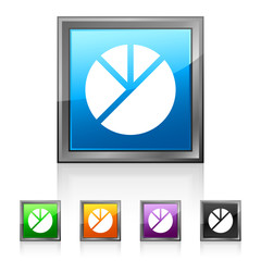 Square Pie Graph icon