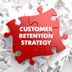 Customer Retention Strategy on Red Puzzle.