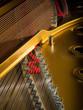 Leinwandbild Motiv interior of a concert grand piano