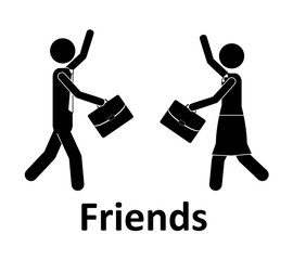 Friends design, vector illustration