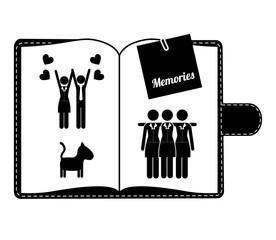 Friends design, vector illustration