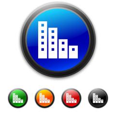 White Apartment Graph icon