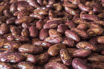 Red beans closeup background