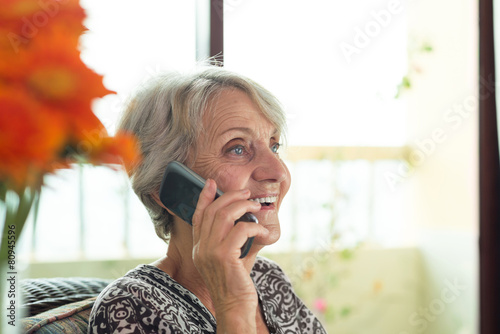 Talking on the phone - 80945596