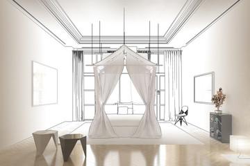 Schlafzimmer im Licht (Entwurf))