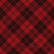 Red grunge plaid tartan 1 - 80948124