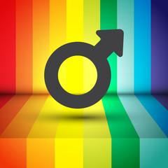 male gender symbol vector icon