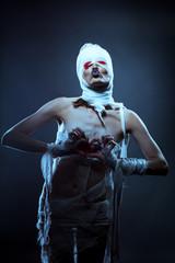 Image of strange looking girl dressed as zombies