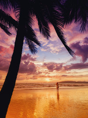 Sunset on the beach of Ao Nang