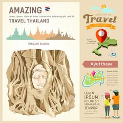 Amazing thailand, The roots around the head of Buddha Image