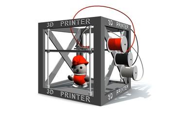 Het printen van een speelgoed poppetje