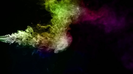 Abstract Fluid Colorful Smoke Turbulance Element