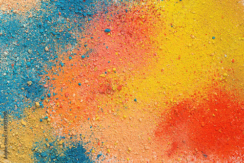 Leinwandbild Motiv Colorful background of pastel powder