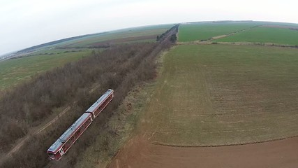 Passenger train aerial follow