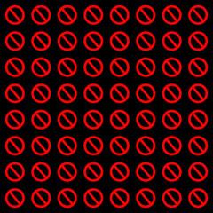 禁止マークの背景