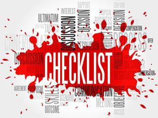 Checklist word cloud, business concept