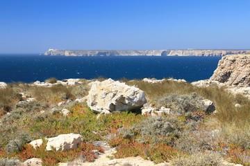 Rocky coast in Algarve, Portugal