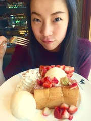 girl and toast