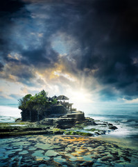 the Tanah Lot temple, in Bali island