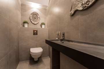 Restroom with basin