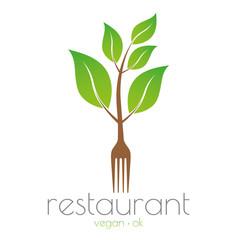 Vegan restaurant logo