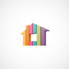 House abstract real estate icon