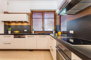 Kitchen with black wheat