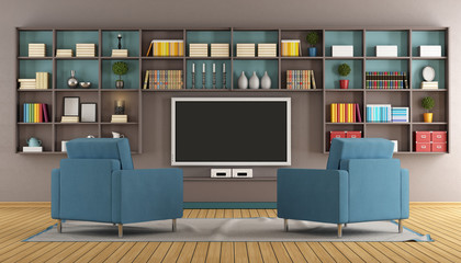 Modern lounge with tv unit