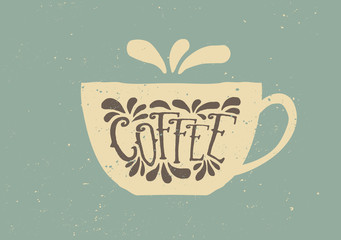 Vintage Coffee Cup Poster