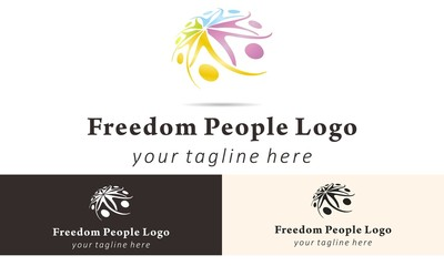 People Full Color Logo Vector Design