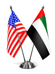 USA and United Arab Emirates - Miniature Flags.