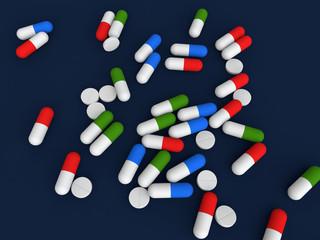 Medicine pills and capsules