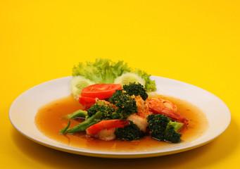 Shrimp broccolli stir fry