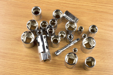 Set of different nozzle to tighten the bolts