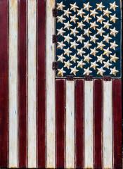 Rustic American Flag Vertical
