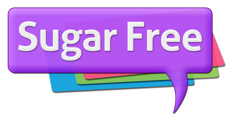 Sugar Free Text With Colorful Comment Symbols
