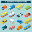 Isometric Transport Icons Set - 80960730
