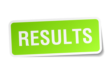 results green square sticker on white background