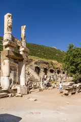 Ancient Ephesus. The ruins of the Temple of Domitian, 81-96 AD