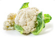 Leinwanddruck Bild - Cauliflower isolated on white background