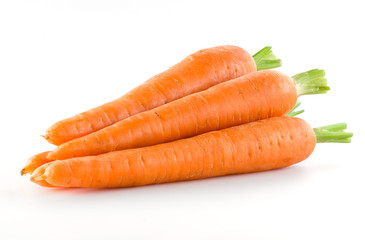 Carrot. Heap of vegetable isolated on white © Tim UR