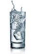 Glass of water with ice. With clipping path - 80961968