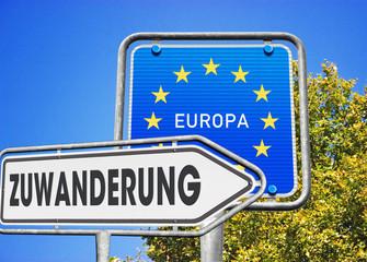 Zuwanderung Richtung Europa