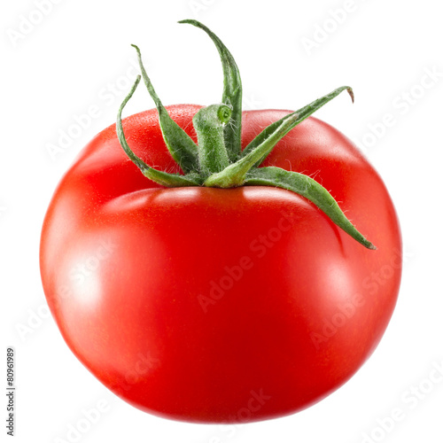 Leinwandbild Motiv Tomato isolated on white background