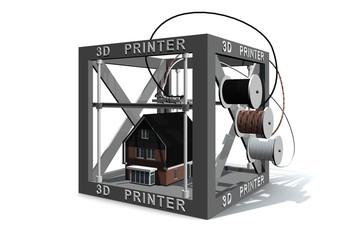 Een maquette van een huis printen
