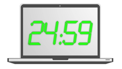 Count Down Timer animation in green 4K LCD LED