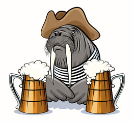 Walrus and Beer