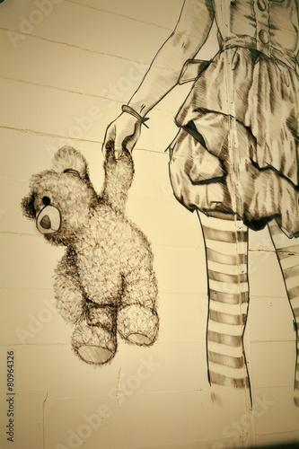 Teddybär Graffiti © Heiko Küverling