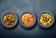 Leinwanddruck Bild - tris di pasta italiana