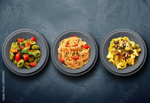 tris di pasta italiana Photo by Giuseppe Porzani